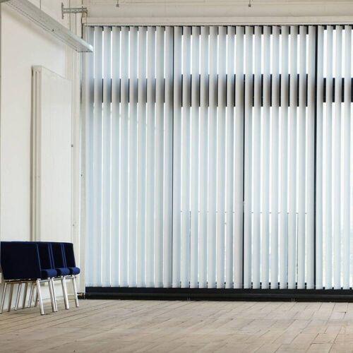 Gardinia Lamellenvorhang, ver. Abmessungen, Komplettset mit Schiene, Bürovorhänge