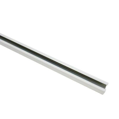 Gardinia 240 cm U-Laufschiene, Gardinenschiene, Innenlaufschiene, Gardinenleiste, 1-Lauf, Weiß