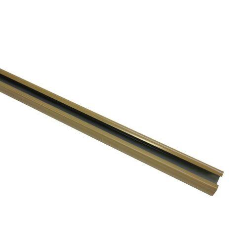 Gardinia 240 cm U-Laufschiene, Gardinenschiene, Innenlaufschiene, Gardinenleiste, 1-Lauf, Beige