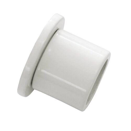 Gardinia Chicago 1 x Wandlager für Ø 20 mm Gardinenstange, Wandbefestigung, Weiß