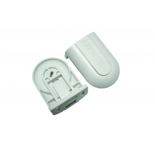 Gardinia Trägerset GT-1, Kunststoff, weiß, für Seitenzugrollos bis 202 cm Breite, Ersatzteil