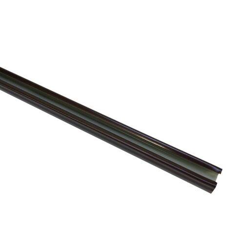 Gardinia 240 cm U-Laufschiene, Gardinenschiene, Innenlaufschiene, 1-Lauf, Bronze