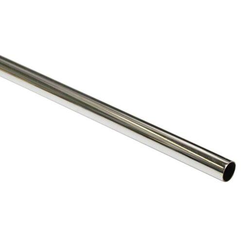 Gardinia Chicago 240 cm Gardinenstange Ø 20 mm, Metall-Stange, Chrom