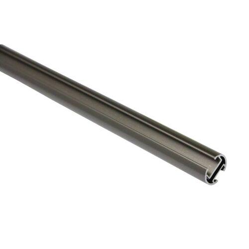 Gardinia Memphis 120 cm Gardinenstange mit Innenlauf II Ø 16 mm, Silber-matt