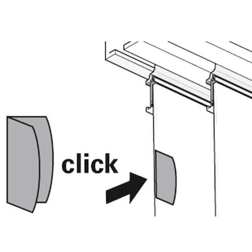 Gardinia Magnet-Clip Weiß  Magnetischer Flächenvorhang-Griff