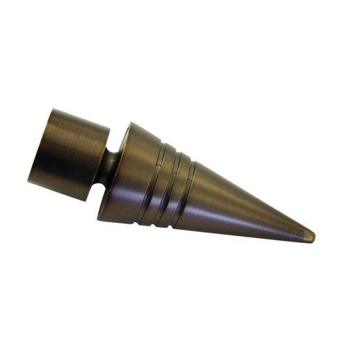Gardinia Chicago 2 x Endknopf SPITZE für Ø 20 mm Gardinenstange, Bronze