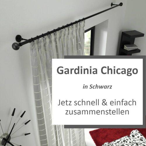 Gardinia Chicago Gardinensystem Konfigurator in Schwarz - Hier zusammenstellen