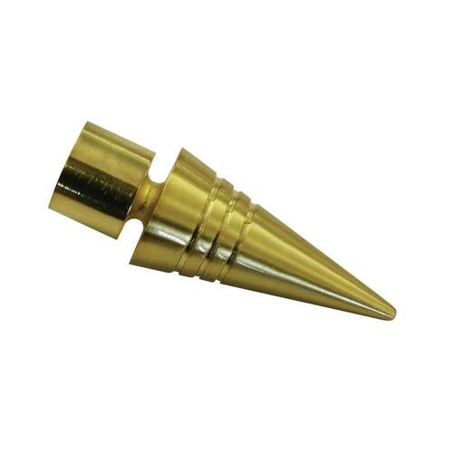 Gardinia Chicago 2 x Endknopf SPITZE für Ø 20 mm Gardinenstange, Messing-Matt