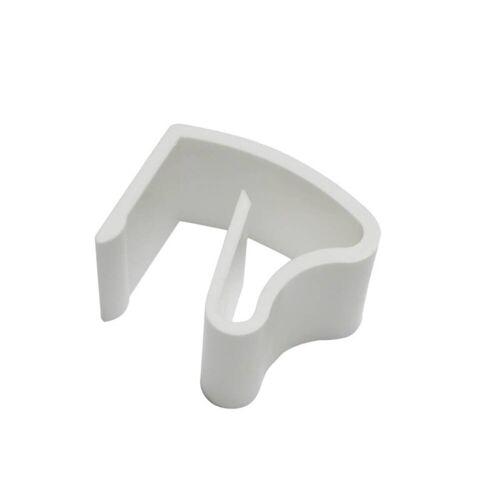 Gardinia Klemmhalter Kunststoff für Alu-Jalousien 25 x 25 mm, weiß