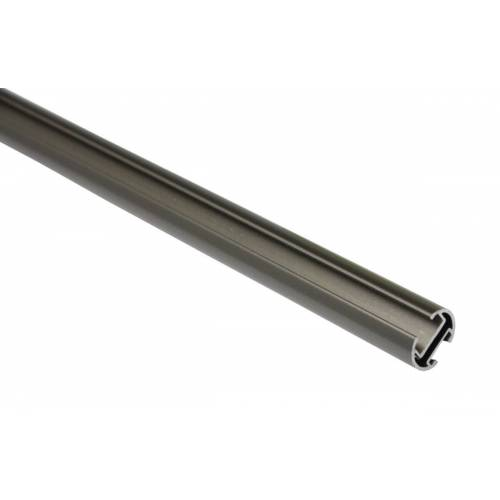 Gardinia Memphis 240 cm Gardinenstange mit Innenlauf II Ø 16 mm, Silber-matt