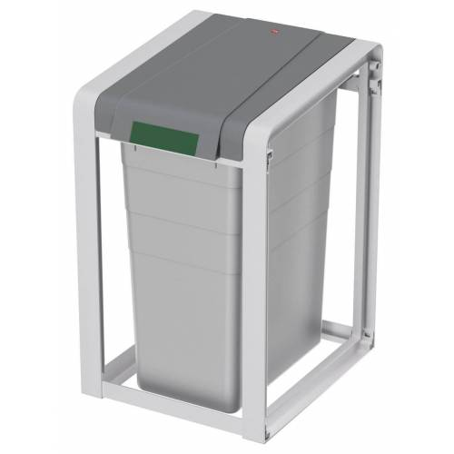 Hailo ProfiLine Öko XL Basiseinheit  Mülltrennsystem  Grau, 38 l