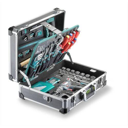 technocraft Professional Alu-Werkzeugkoffer PRO GSR 147, Werkzeugkasten mit BOSCH GSR12V-15
