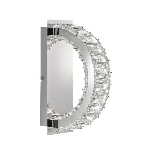 WOFI Leuchten Wofi LED Wandleuchte Anesa, 6W, 560 lm, Warmweiß (3000 K), Kristalloptik