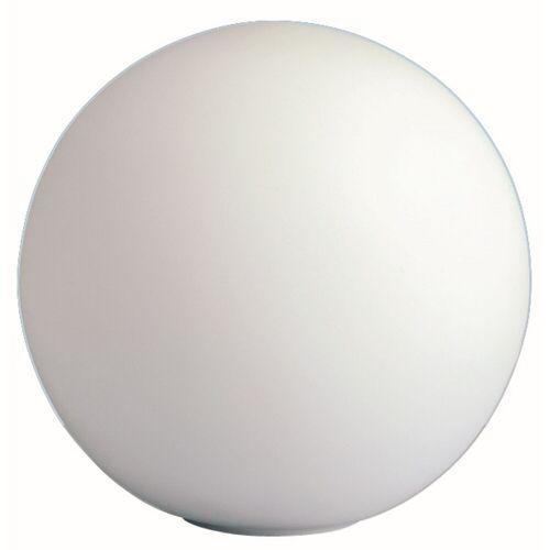 WOFI Leuchten Wofi Tischleuchte Point, 1-flammig, E27, max 60 W, Weiß, Glas, Kugellampe, Lampe in Kugelform