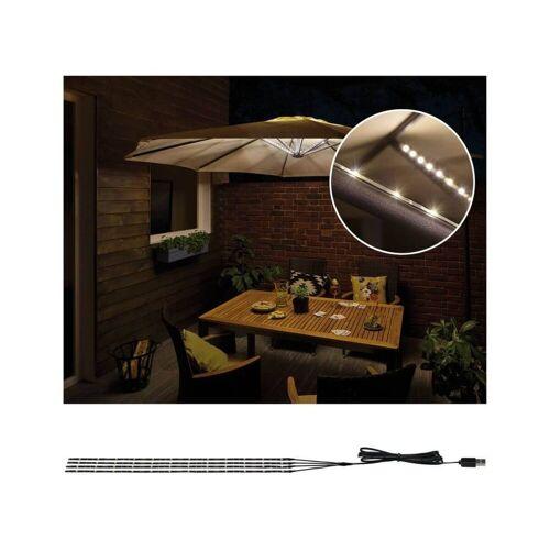 Paulmann Licht Paulmann Mobile Strip Parasol Schirm-Beleuchtung IP44 4er-Set, 4x40cm, Sonnenschirm-LED-Stripes