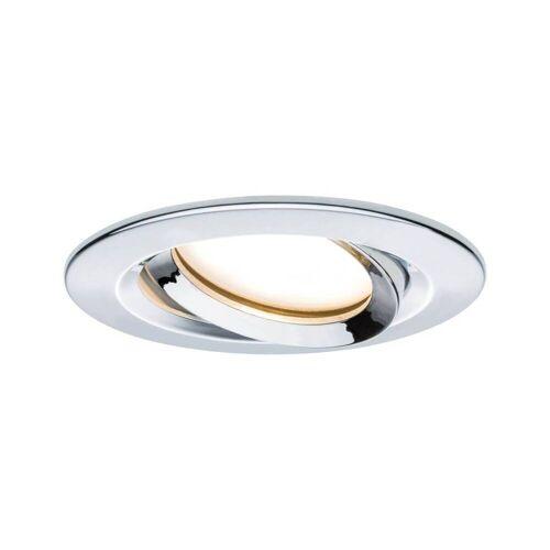 Paulmann Licht Paulmann Nova Coin Plus Dimmbar IP65 rund 6,8W schwenkbar LED Einbauleuchte, Badleuchte