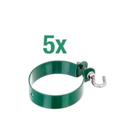 GAH Alberts Zaunanschl-Set Ø 76  2000 mm, 1s  Draht, Grün, zum Einbetonieren
