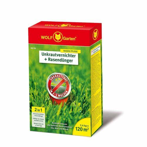 Wolf-Garten 2-In-1 Unkrautvernichter & Rasendünger - wirksam gegen stark verunkrauteten Rasen