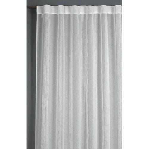 Gardinia Schal mit Streifen, 140 x 245 cm, weiss