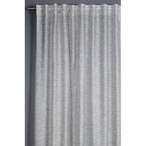 Gardinia Schal mit Gardinenband, Jacquard-Voile, 140 x 245 cm, grau
