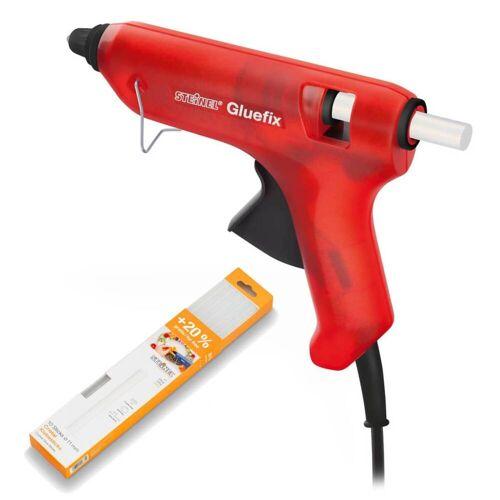 Steinel Heißklebepistole Gluefix Aktionspaket, rot, Ø 11 mm, 200°C + 10 Klebesticks 300 g