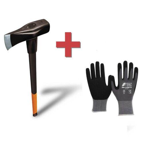 Fiskars Spalthammer X46 inklusive Handschuh  2 in 1: Axt und Hammer