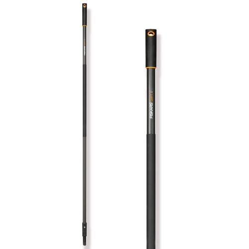 Fiskars QuikFit Stiel Graphit, groß (156 cm)  Stiel für Steck-Gartengeräte