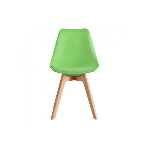Stuhl Scandinavian Mit Holzbeinen Grün