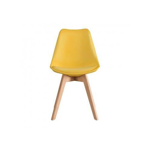 Stuhl Scandinavian Mit Holzbeinen Senf
