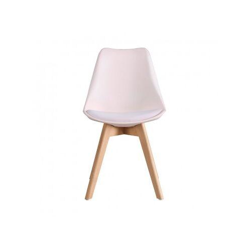 Stuhl Scandinavian Mit Holzbeinen Rosa