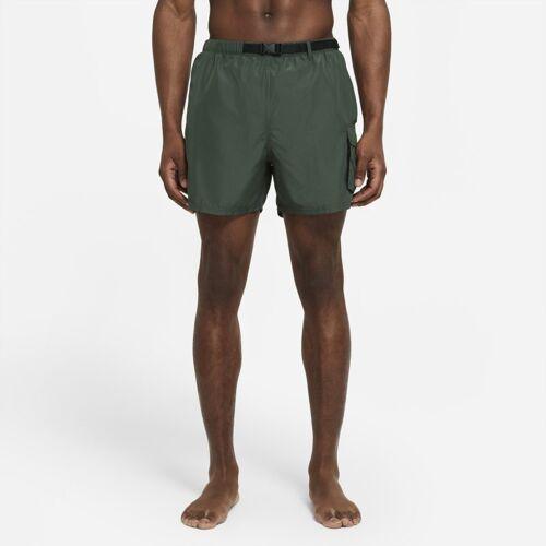 Nike verstaubare Schwimmhose mit Gürtel für Herren (ca. 12,5 cm) - Grün S Male