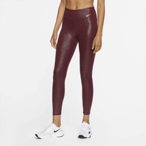 Nike One glitzernde 7/8-Tights für Damen - Rot, L