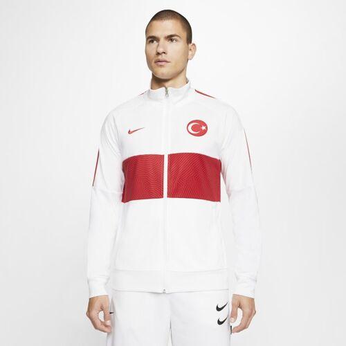 Nike Türkei Fußball-Track-Jacket für Herren - Weiß M Male