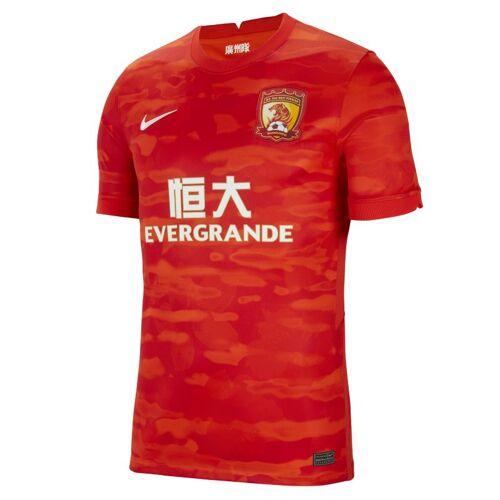 Nike Guangzhou Evergrande Taobao FC 2020/21 Stadium Home Herren-Fußballtrikot - Rot L Male