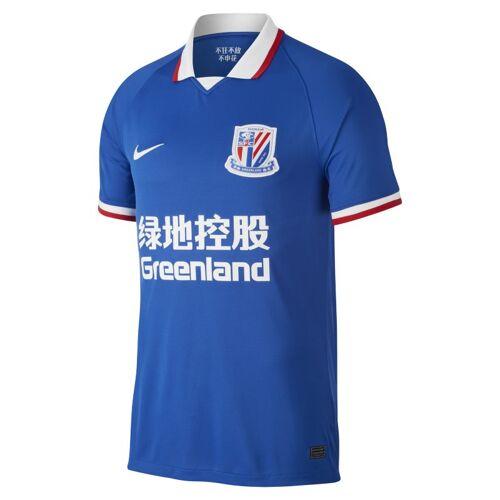 Nike Shanghai Greenland Shenhua FC 2020 Stadium Home Herren-Fußballtrikot - Blau M Male