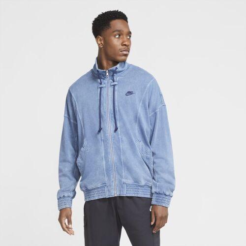 Nike Sportswear Herren-Strickjacke mit Waschung - Blau, L