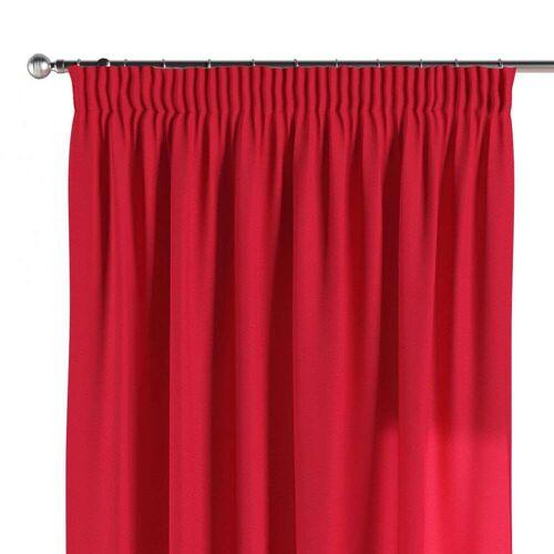 Dekoria Vorhang mit Kräuselband rot Modell: 130 × 260 cm