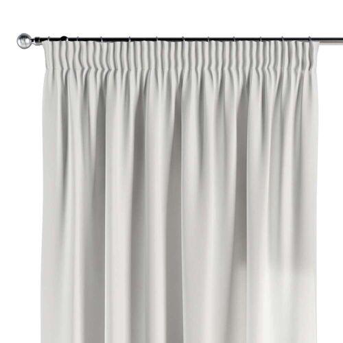 Dekoria Vorhang mit Kräuselband weiss Modell: 130 × 260 cm