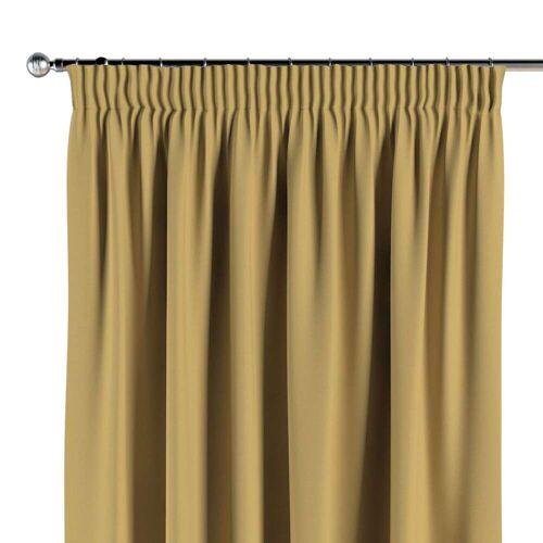 Dekoria Vorhang mit Kräuselband chiffongelb Modell: 130 × 260 cm