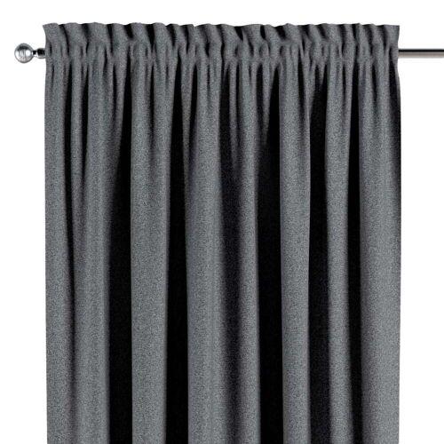 Dekoria Vorhang mit Tunnel und Köpfchen dunklegrau Modell: 130 × 260 cm