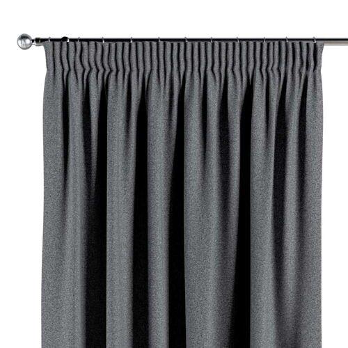 Dekoria Vorhang mit Kräuselband dunklegrau Modell: 130 × 260 cm