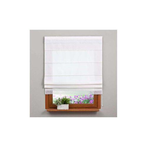 Dekoria Raffrollo mit Stickerei weiß Modell: 130 × 170 cm
