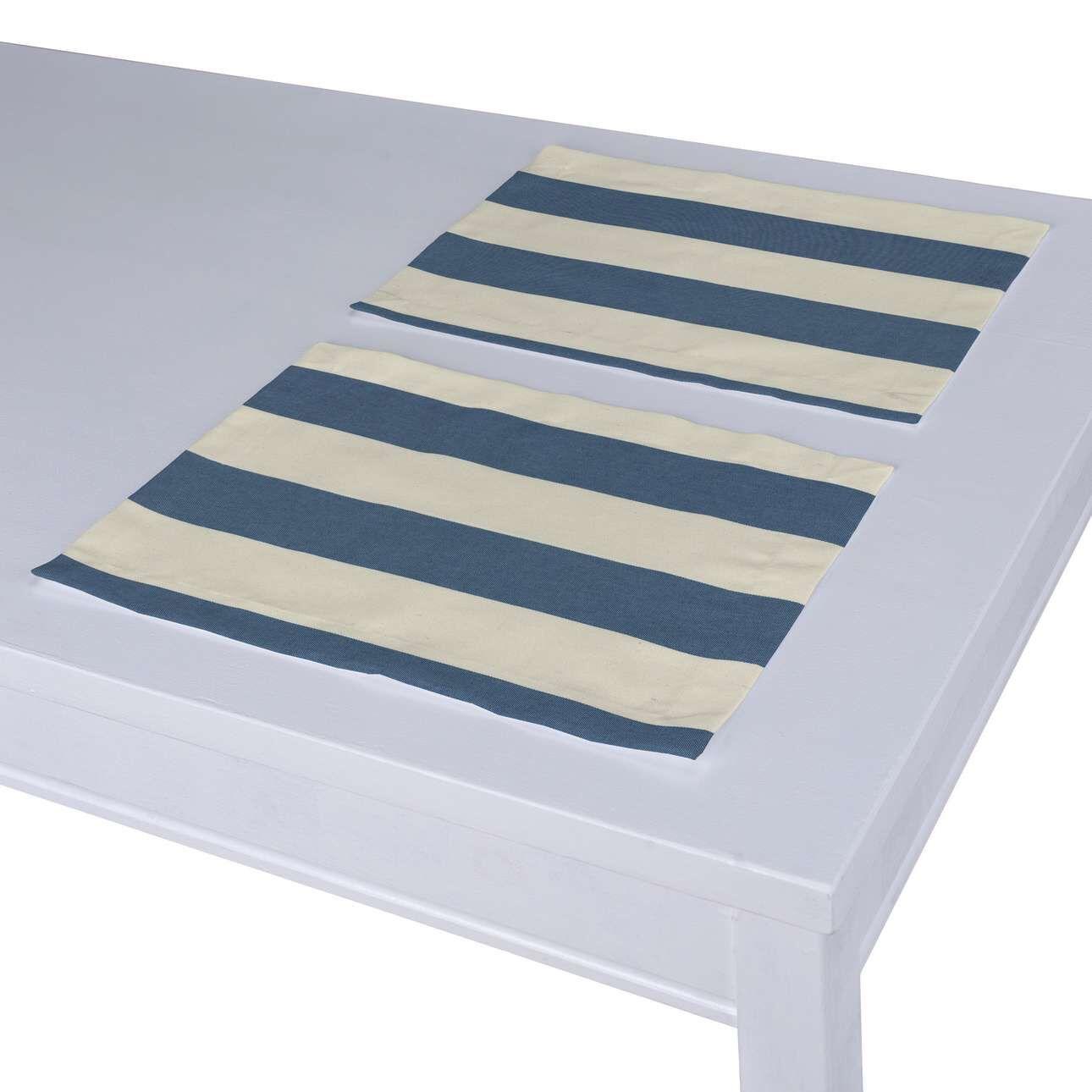 Dekoria Tischset 2 Stck. blau-weiß Modell: 30 × 40 cm