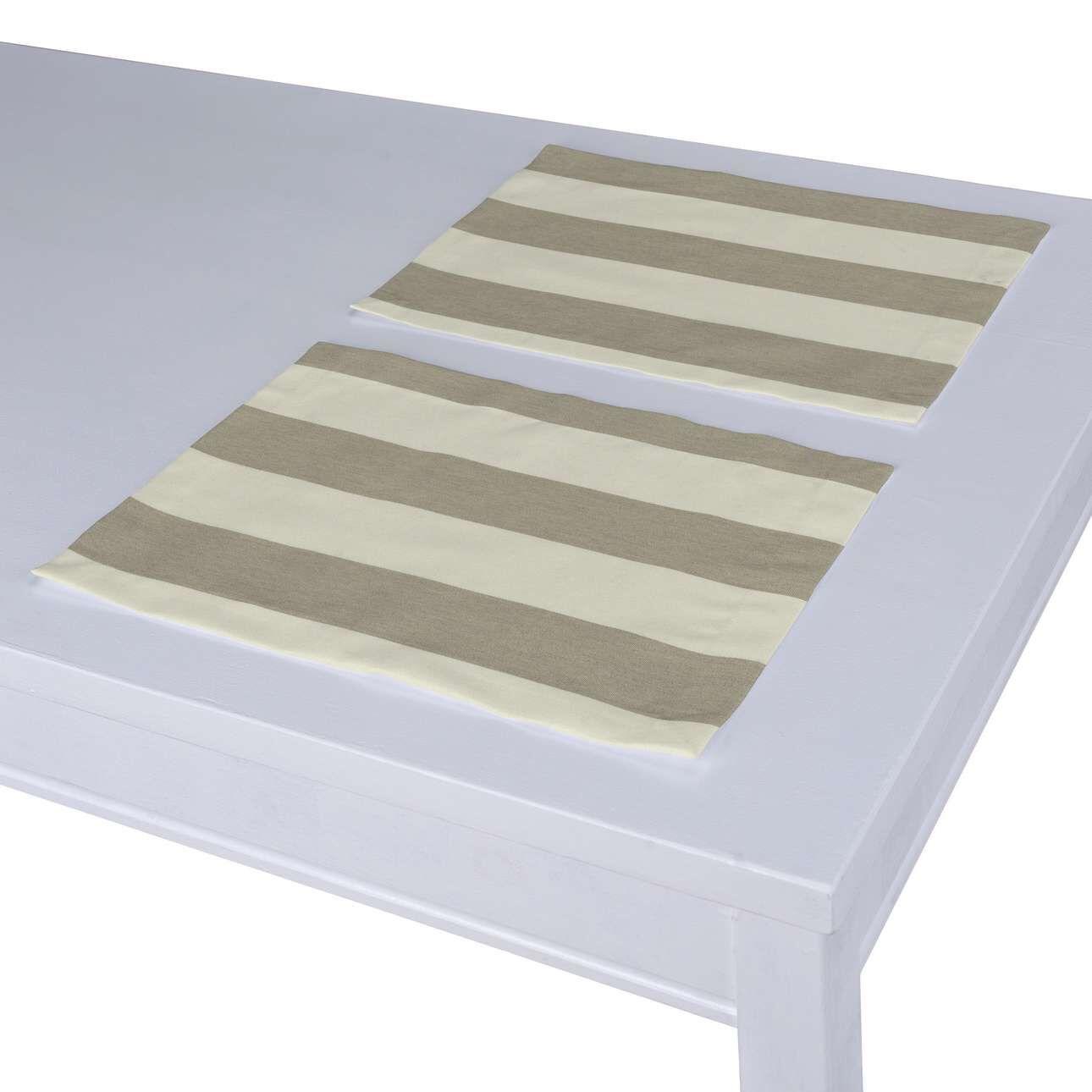 Dekoria Tischset 2 Stck. weiß- beige Modell: 30 × 40 cm