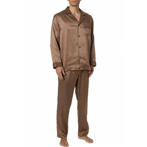 Zimmerli Silk Pyjama lang 6000/75130/136 braun