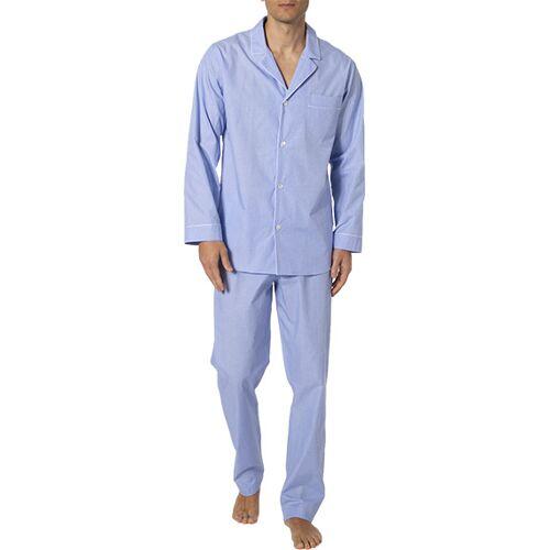 Zimmerli Woven Pyjama lang 4030/75001/412 blau