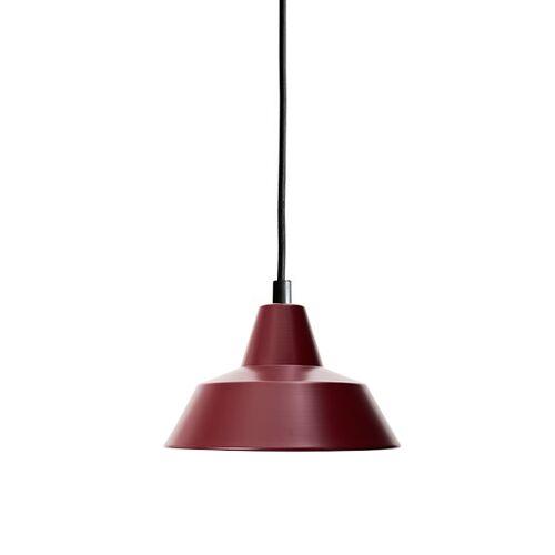 Made By Hand Werkstattlampe Pendel Weinrot W1