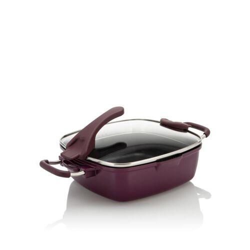 Cucinella Viereckpfanne Smart, 24 x 24 cm aubergine