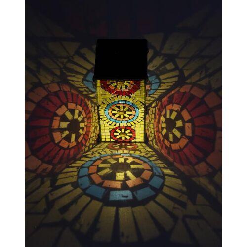 SOLITHIA Mosaik Laterne, eckig