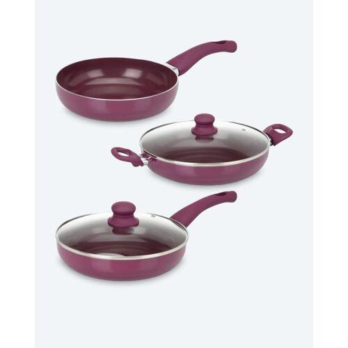 Cucinella Pfannen-Set, 3tlg. aubergine